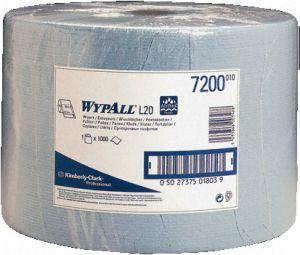 Lavete profesionale albastre Wypall L20, rezistente, cu absorbtie ridicata a lichidelor si uleiurilor.