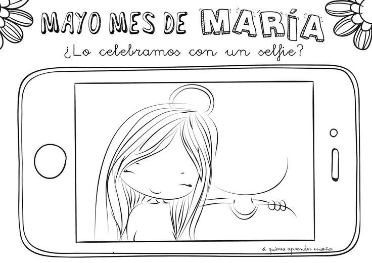 Divertida ficha para trabajar con los más peques el mes de Mayo; un mes dedicado a nuestra madre María y que mejor que celebrarlo con un se...