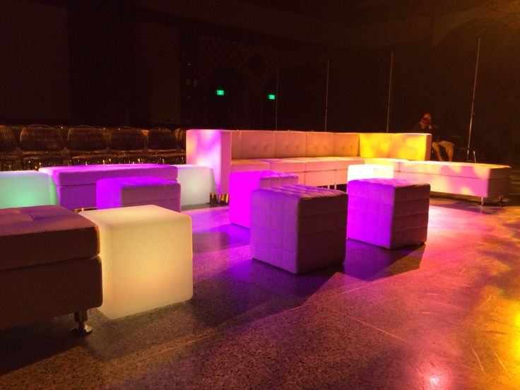 Popular PVG lounge furniture and led light cubes available from promotionalvip