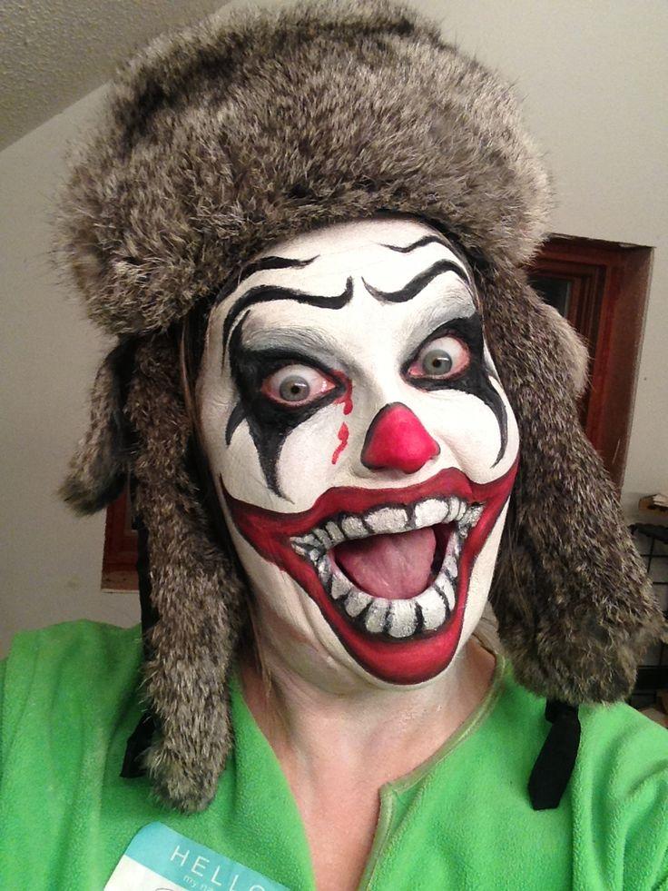 Crazy Clown 2 | Face painting halloween, Halloween face