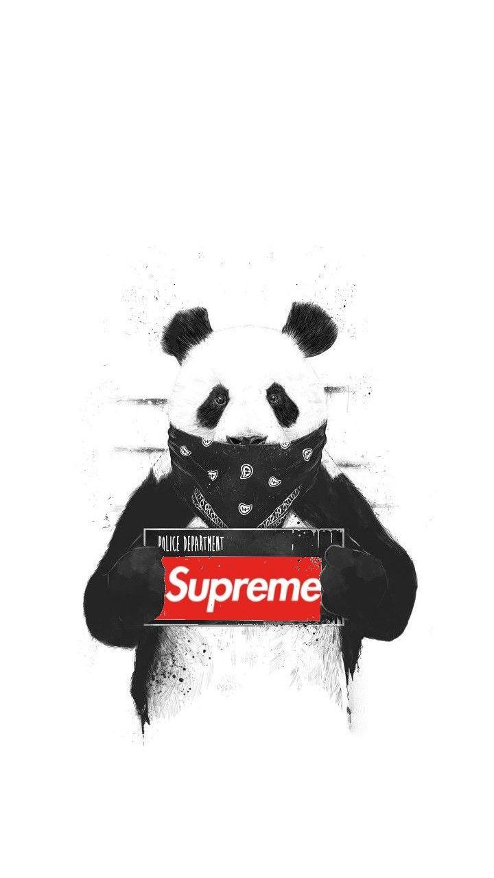 Panda Supreme In 2019 Supreme Wallpaper Supreme Iphone