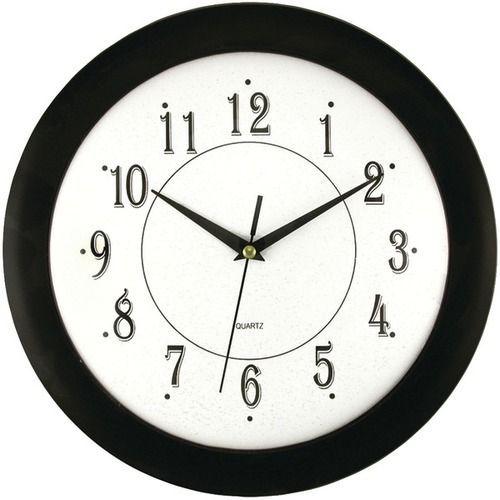 """TIMEKEEPER 6424 12"""""""" Black Wall Round Wall Clock"""