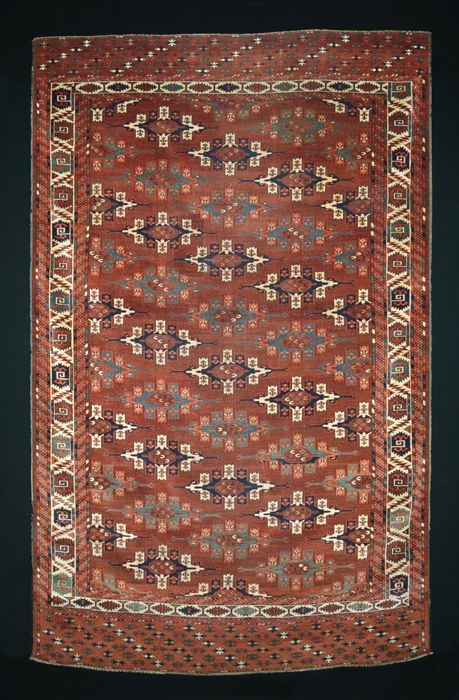 M. Tehrani Yomut Maincarpet 290 x 180 cm 19th Century
