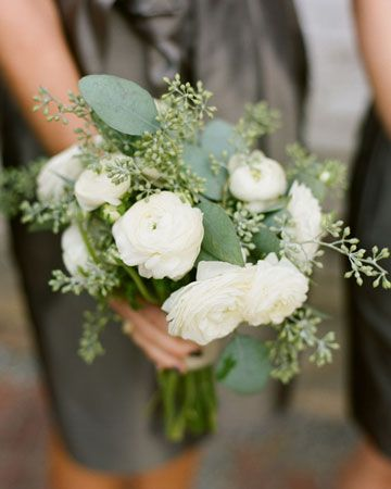 each bridesmaid bouquet subtly different-nice.... good idea Martha!
