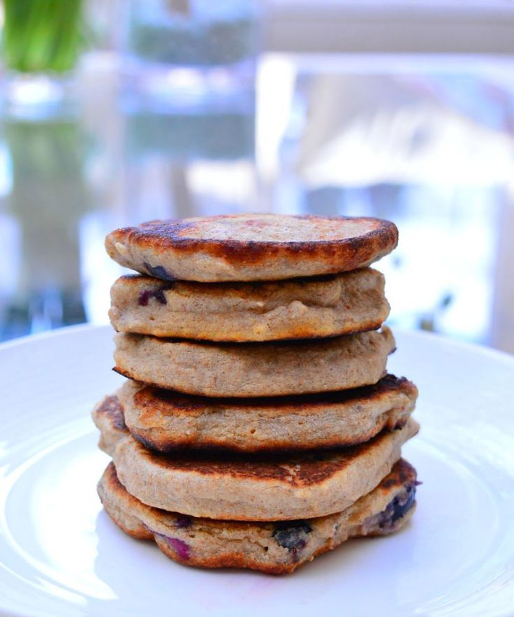 Blueberry and Banana Pancakes {Gluten & Dairy Free} #thermomix