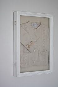 Pin heirlooms or favorite items in shadow boxes