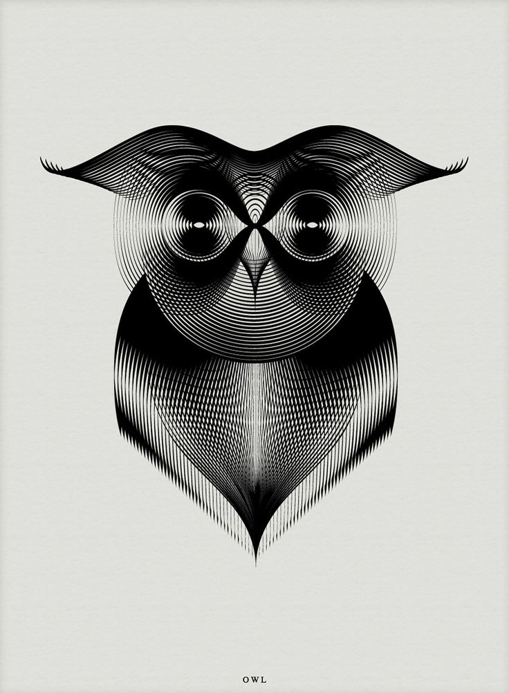 Animals Drawn with Moiré Patterns…