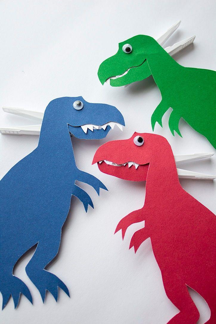 Dinosaurier Basteln Aus Papier Pappe Anleitung 15 14