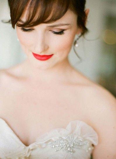 Trucco con labbra aranciate per la sposa 2017