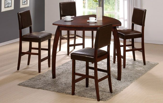 47 enrica triangle counter high dining table set monstermarketplace