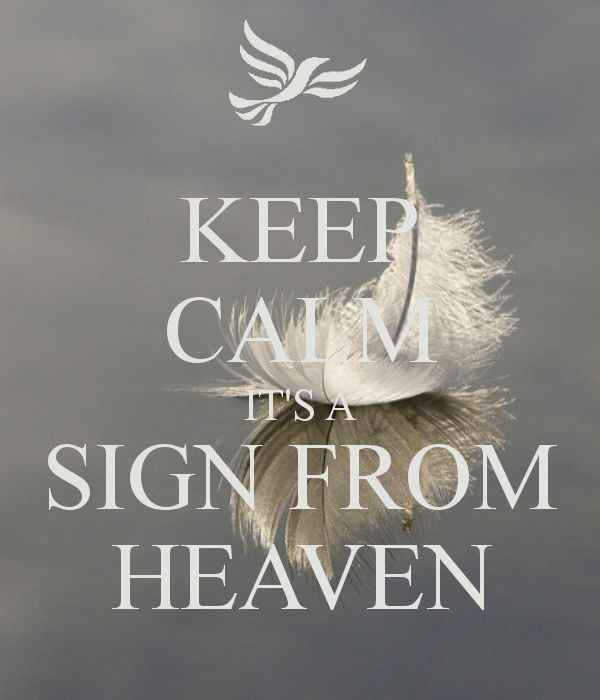 KEEP CALM IT'S A SIGN FROM HEAVEN - by me JMK