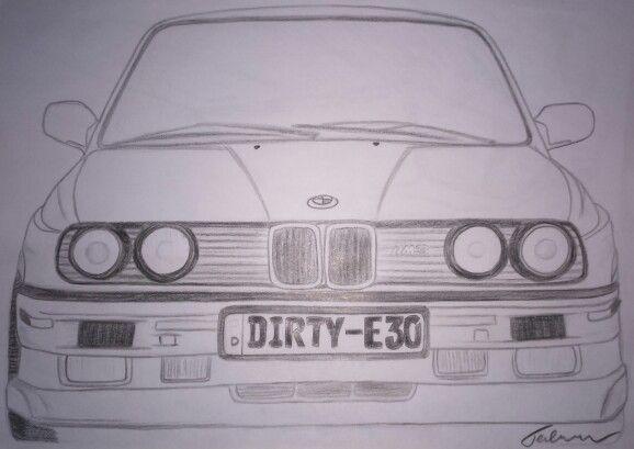 Bmw E30 Desenhos De Carros Desenhos Desenho