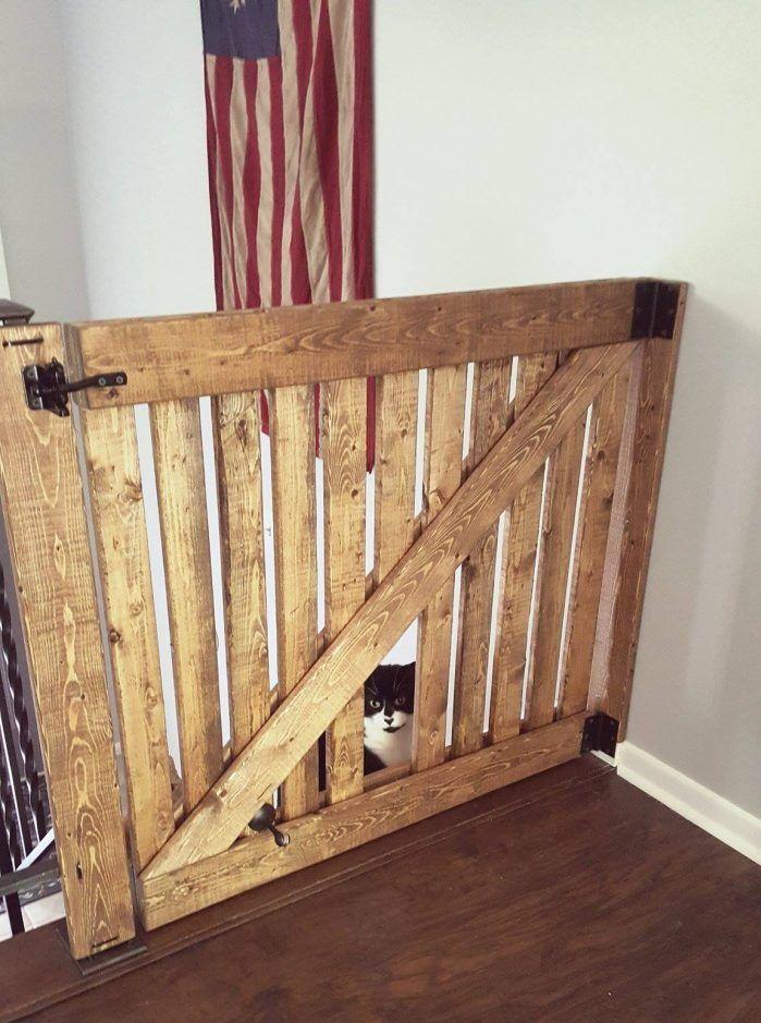 DIY Barn Door Baby Gate With Pet Door Instructions