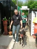 The wonderful Ruth at Perry Barr RGT (Retired Greyhound Trust), where we got our beautiful Maisy from.  Ruth is amazing!