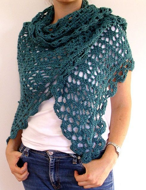 Nice crocheted shawl made by lorka.and found over on Flickr.Chart pattern HERE.
