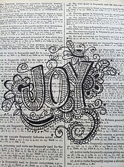 Joy: Dictionary Art by Nola