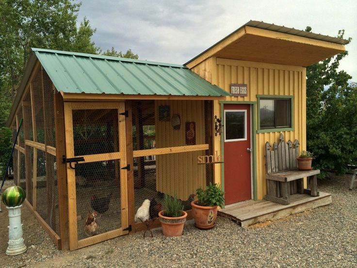 Chicken Coop Design Ideas most beginners start with 10 chickens but its too big for you we also have this 12x6 chicken coop plans for 6 8 chickens everything else is the same 25 Best Chicken Coop Designs Ideas On Pinterest Chicken Coops Diy Chicken Coop And Chicken Houses