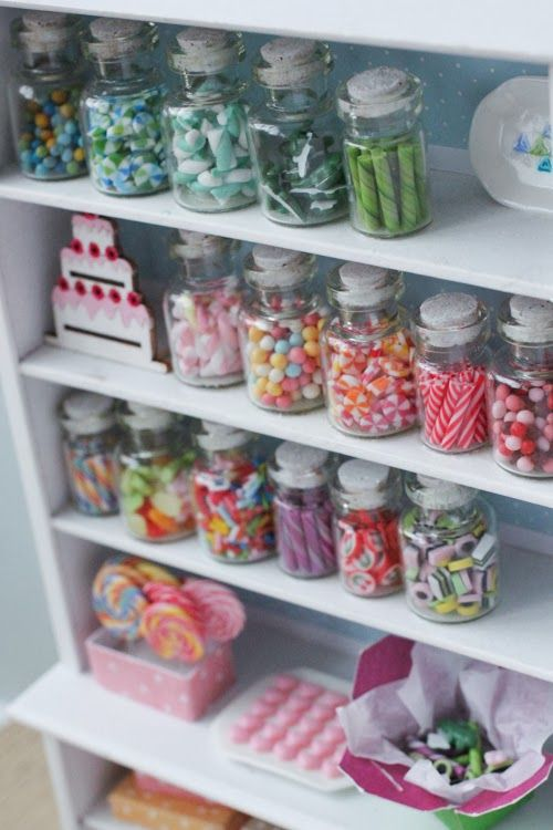 Candy Shop Shelf - Lollipops, Chocolate & More by Stephanie Kigast of PetitPlat Handmade Miniature Food