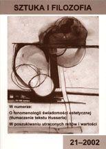 Wydawnictwo Naukowe Scholar :: :: 2002 SZTUKA I FILOZOFIA nr 21