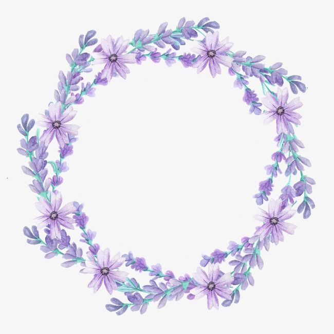 Wreath Lavender Flowers Png Transparent Clipart Image And Psd File For Free Download Garlandofflowers Download Wreath Watercolor Flower Frame Purple Wreath