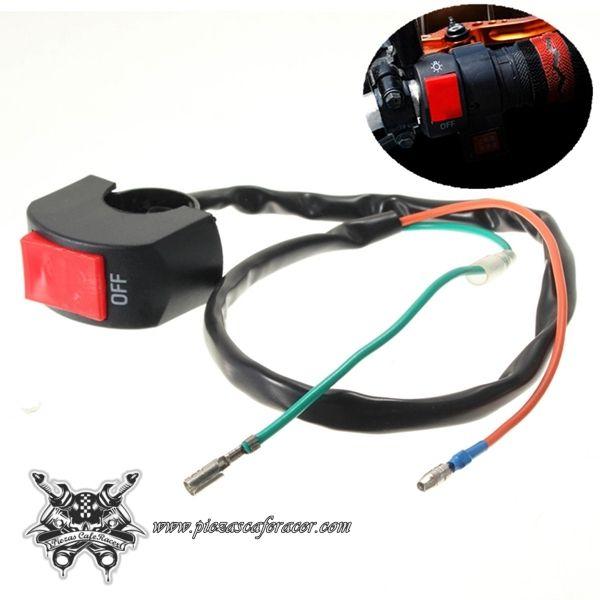 Interruptor Para Manillar Moto 22mm ON/OFF Universal Para Luces Color Rojo/Negro - Envío Gratis a toda España - 4,11€