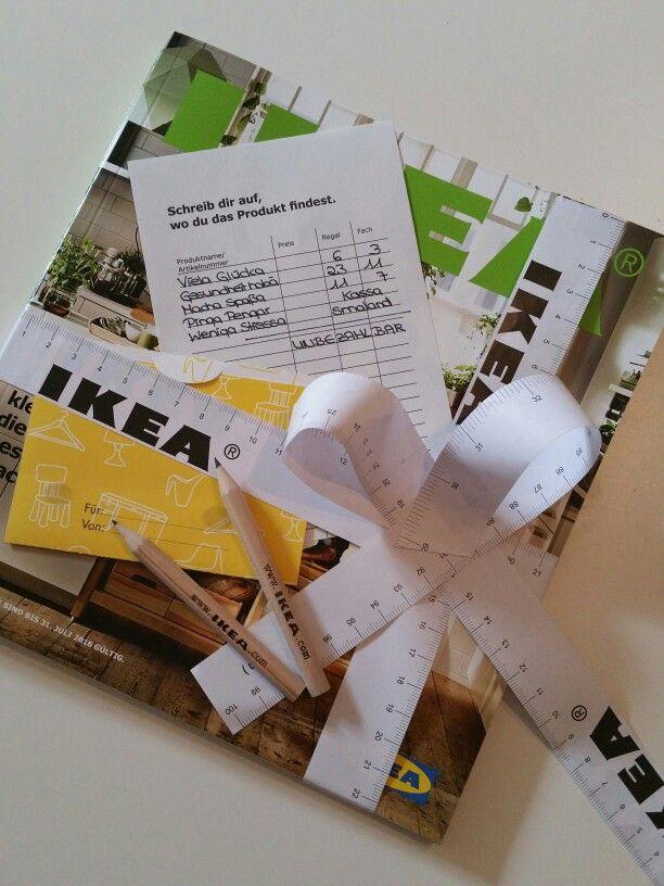 ikea gutschein geschenkverpackung mit kostenlosen zubeh r von ikea selbstgestaltet. Black Bedroom Furniture Sets. Home Design Ideas