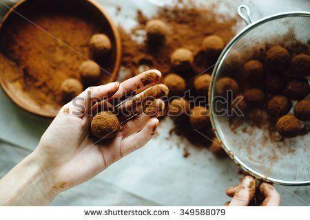 Chef Making Truffles Stock Photography   Shutterstock