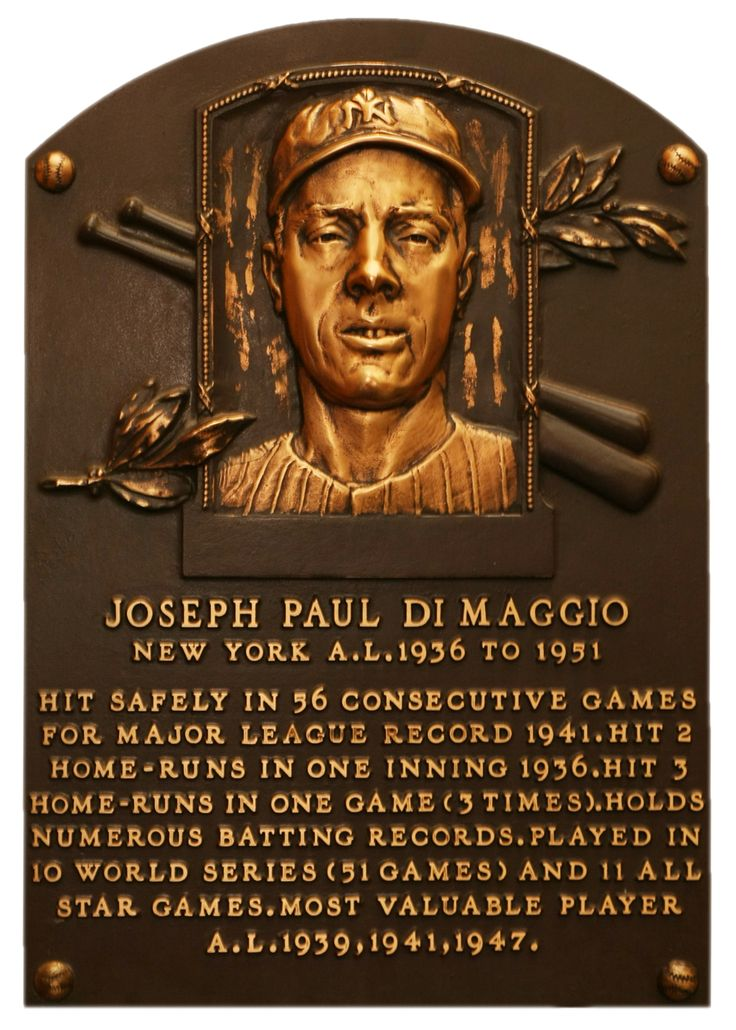 DiMaggio, Joe | Baseball Hall of Fame | Inducted to the Hall of Fame in: 1955 | Primary team: New York Yankees | Primary position: Center Fielder