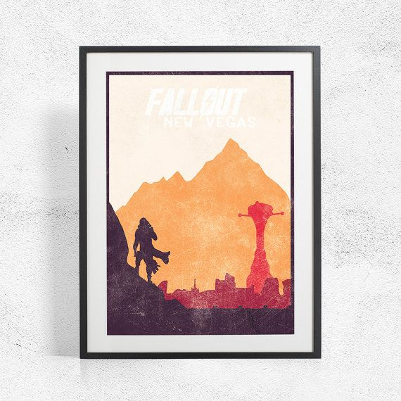 Fallout New Vegas Inspired Art Poster Size A3 A2 by BaydleCreative