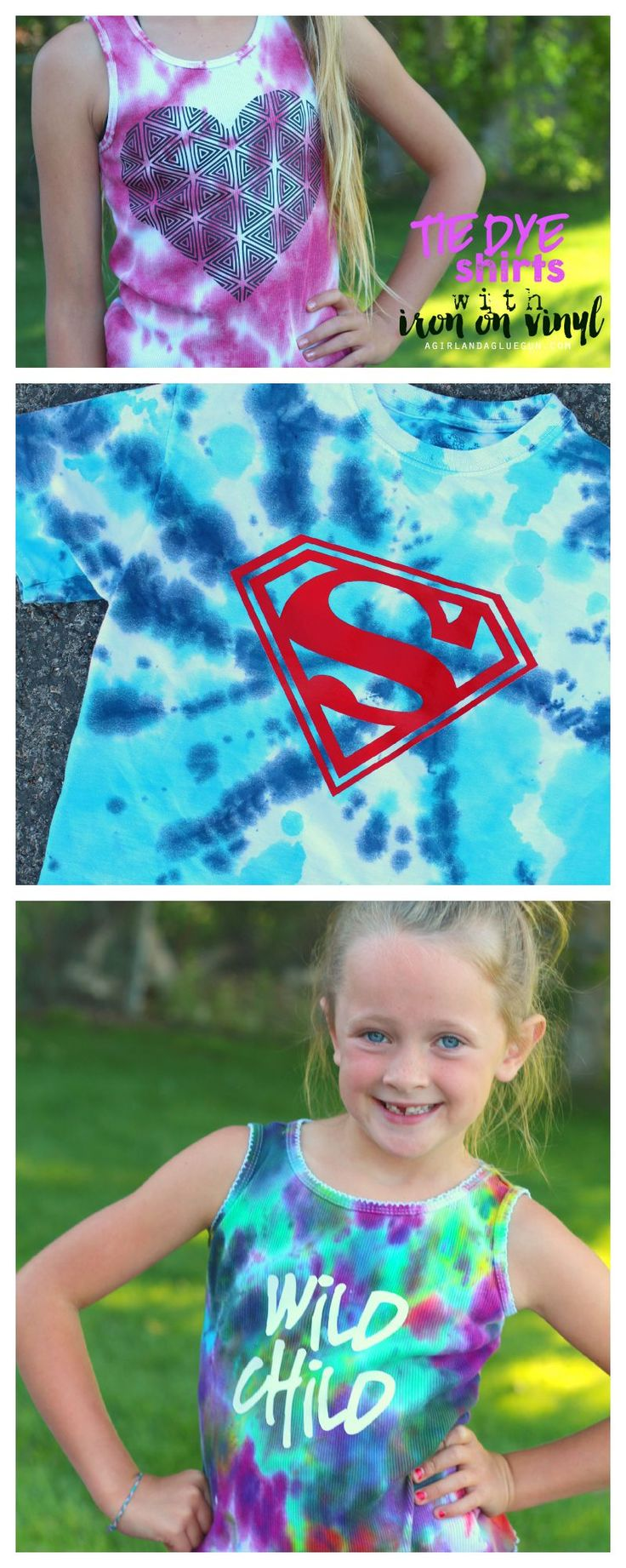 easy fun summer craft for kids tie dye shirts with iron on vinyl
