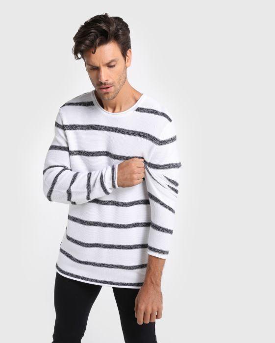74d5a041d4af61 Suéter Tricot Listrado em 2019   ALÊ - Moda & Estilo - Look Book ...
