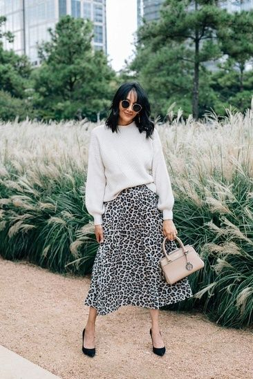 b4b82ffb90ac #ShopStyle #shopthelook #leopardprint Leopard Print Skirt, Skirts With  Boots, New Years