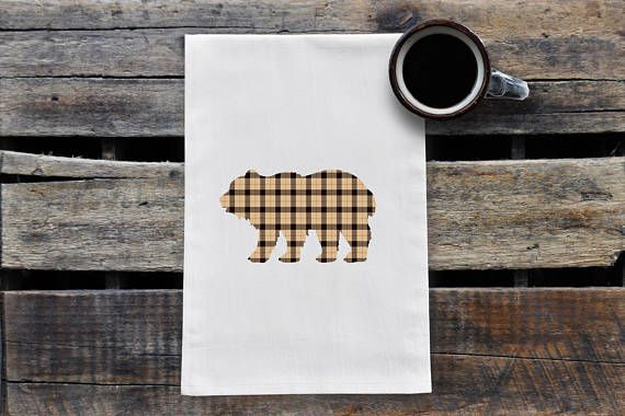 Hey, I found this really awesome Etsy listing at https://www.etsy.com/ca/listing/548793754/brown-plaid-bear-tea-towel