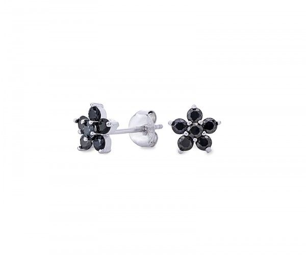 Ohrstecker aus Sterling Silber mit Zirkonia Kristallen / Sterling silver stud earrings with zriconia crystals.