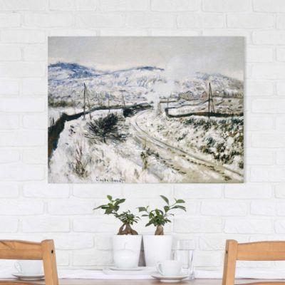 Leinwandbild Claude Monet - Kunstdruck Zug im Schnee bei Argenteuil - Impressionismus 90x120x2-71.00-LB-3-4 Jetzt bestellen unter: https://moebel.ladendirekt.de/dekoration/bilder-und-rahmen/poster/?uid=a8e8d522-9b1a-52d9-999f-e33b4b609df6&utm_source=pinterest&utm_medium=pin&utm_campaign=boards #heim #bilder #rahmen #poster #dekoration
