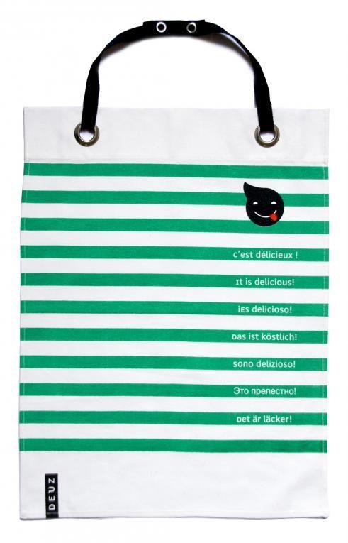 DEUZ Napkid Green slab met groene strepen