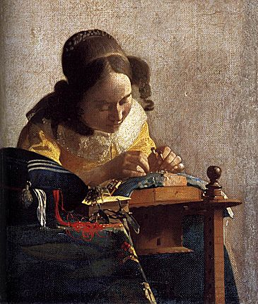La Dentellière, 1669-1770, Johannes Vermeer, Paris, Musée du Louvre