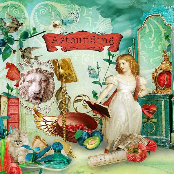 Astounding by Krysty Scrap Designs #digitalcollage #digital #art #photomanipulation #artjournaling #scrapbook #baroque