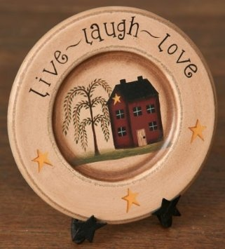New Saltbox House Plate That Coordinates With Many Of Our Live Laugh Love  And Saltbox Themes Items. This Plate Measures Almost 6 Across And Reads Live  Laugh ...