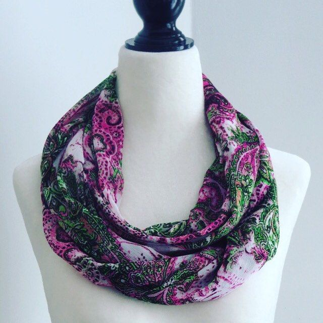 New handmade infinity scarf, and many more items to come! Keep checking back.