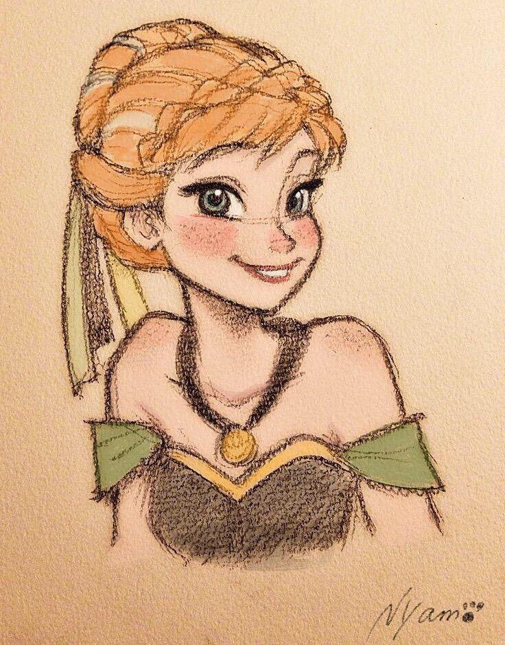 Hübsche Zeichnung von Anna