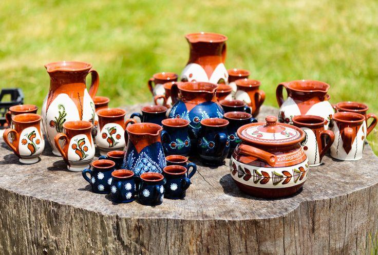 Traditional ceramic pottery at Horezu, Romania