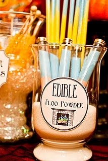 Edible Floo Powder* = Sandy Candy (*not in the books, I know, but still fun)