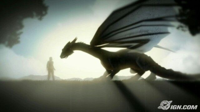 This is a great picture of Eragon and Saphira