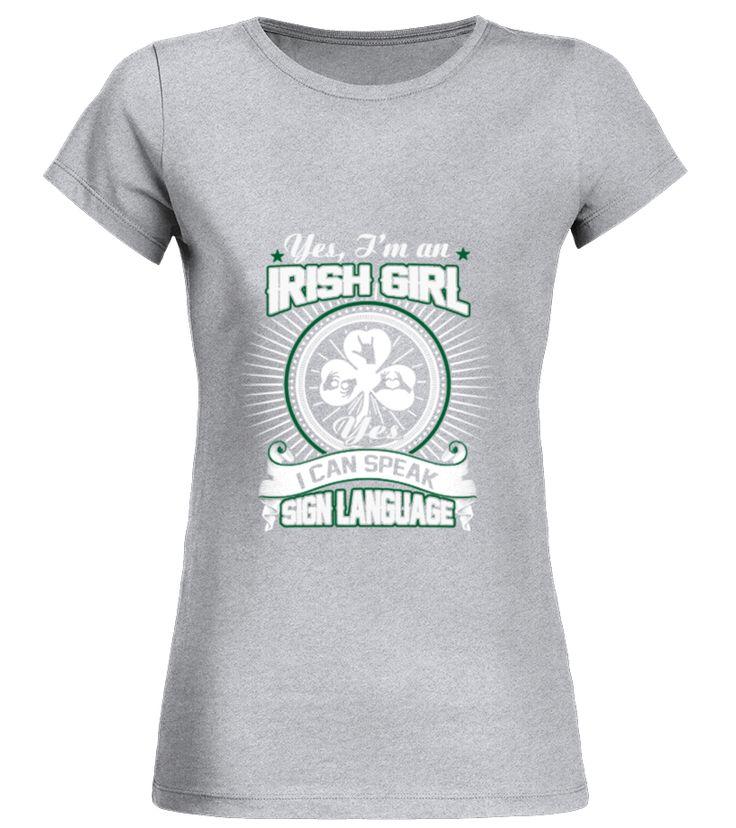 Irish girl - I can speak sign language
