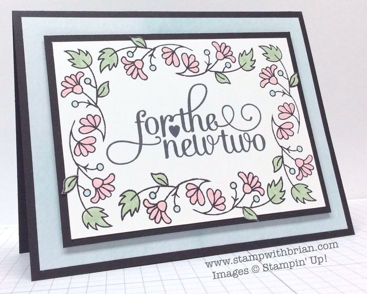 For the New Two, Bordering Blooms, Stampin' Up!, Brian King, PP243