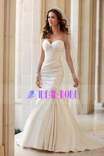 2015 #chérie #de #mariée #sirène #Robes -  http://www.idealrobe.fr/Robe-de-mariée/Grande-Taille