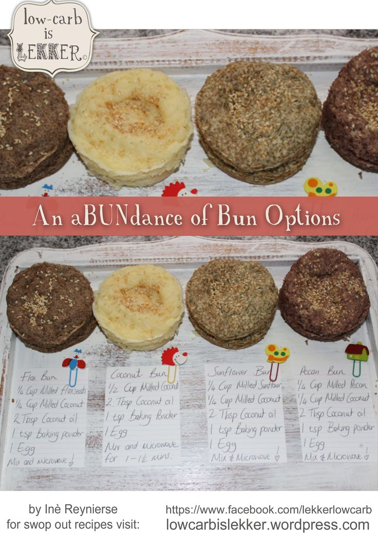 LCHF bun/roll options. Good to heat in a pan for burgers, or use  for a snackwich