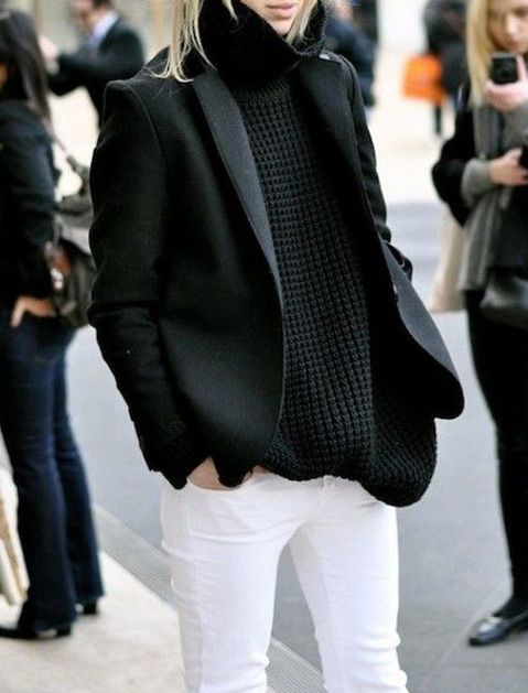 white pants in winter.