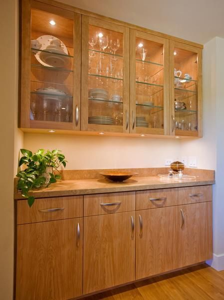 Wooden Dining Room Cabinets Built In